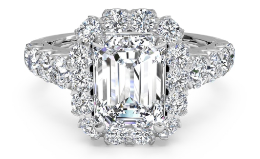 Ritani Masterwork Halo Engagement Ring