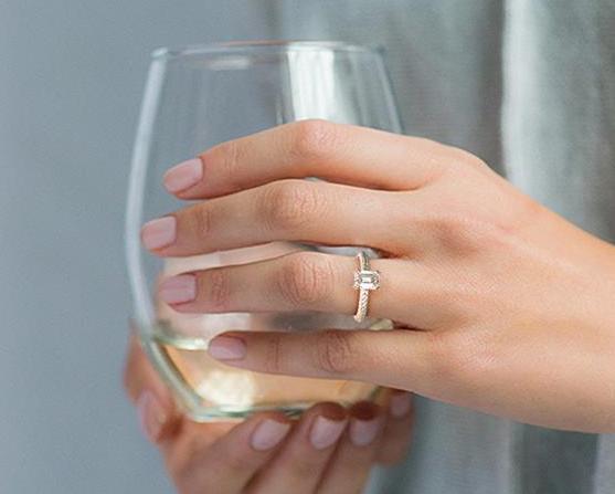 James Allen Emerald Cut Diamond Engagement Ring