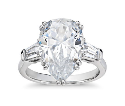 Blue Nile Pear Cut Diamond Engagement Ring
