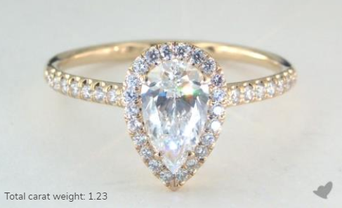 James Allen 1.00 Carat Pear Yellow Gold