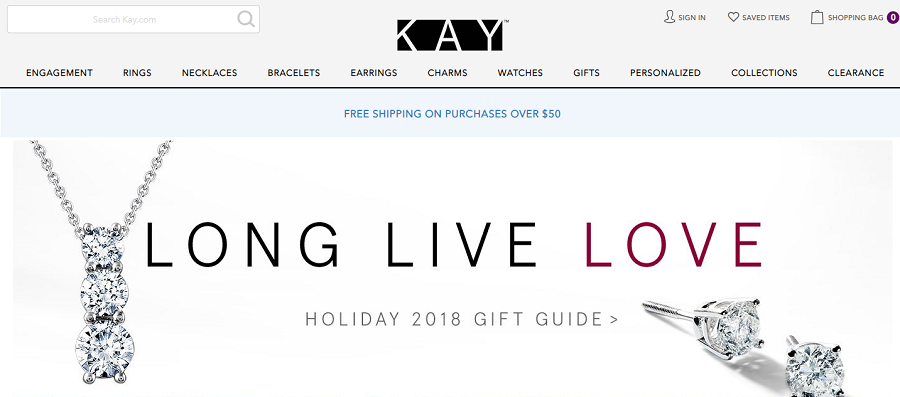 kay jewelers homepage image