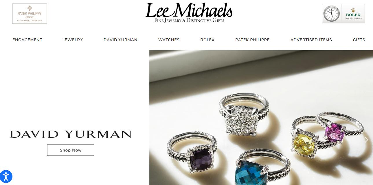 lee michaels jewelry homepage