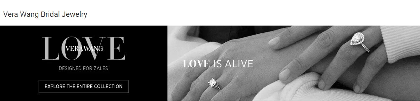 vera wang love collection website banner