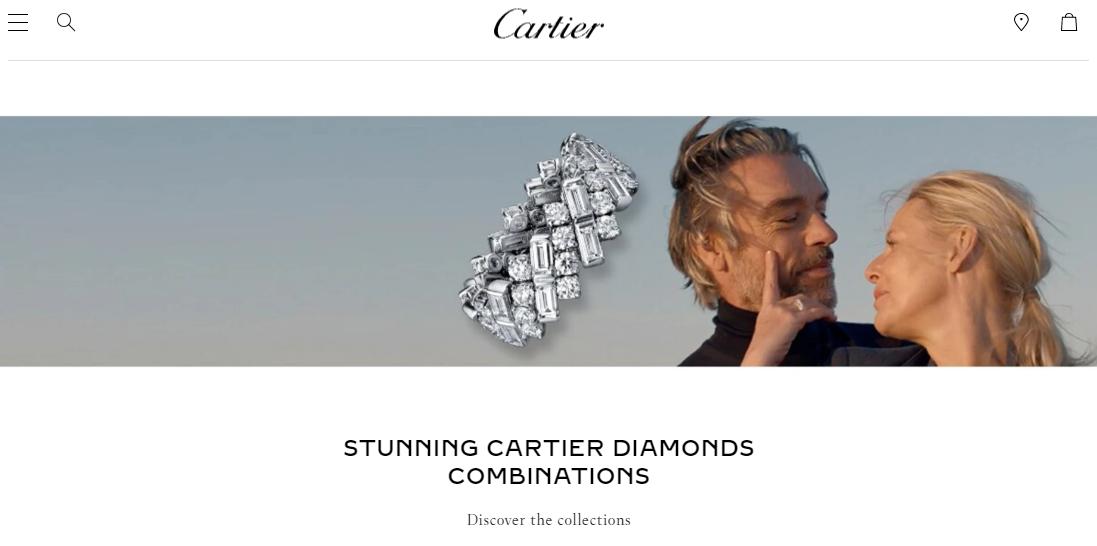 cartier diamonds homepage