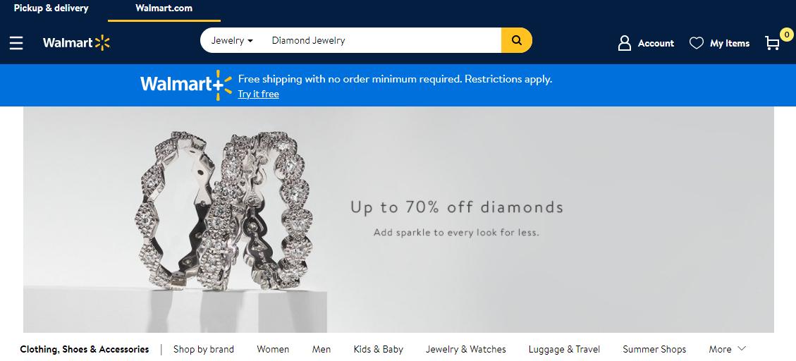 walmart diamonds review homepage