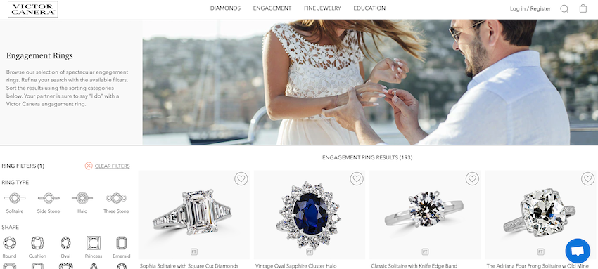 Diamond Engagement Rings from Victor Canera